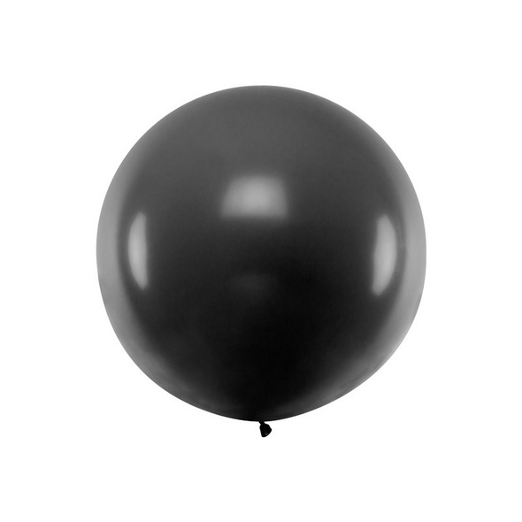 Balloon 1m. round. Pastel black