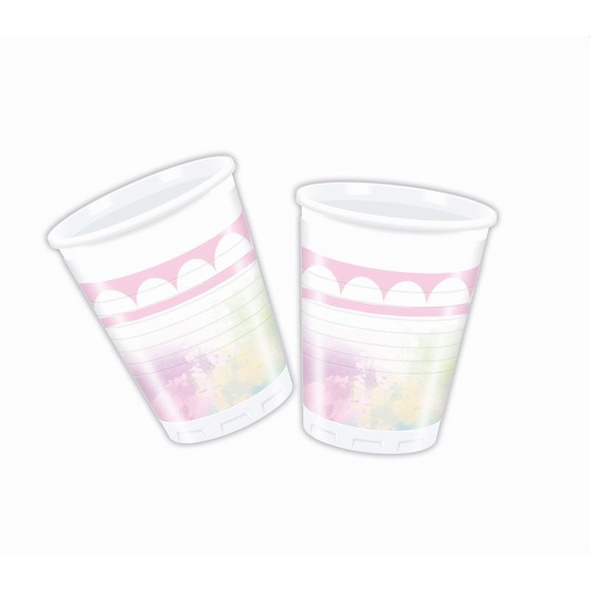 Believe In Unicorns 8 Plastic Cups 200ml