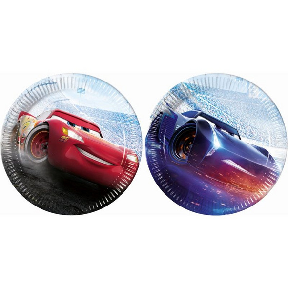 Cars The Legend Of The Track 8 Paper Plates Large 23cm (2 mixed designs)