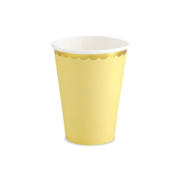 Cups, light yellow, 220ml (1 pkt / 6 pc.)