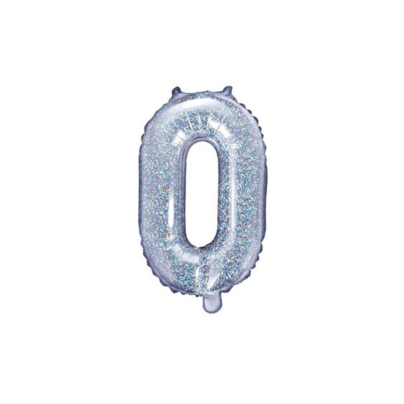 Foil Balloon Letter O. 35cm. holographic