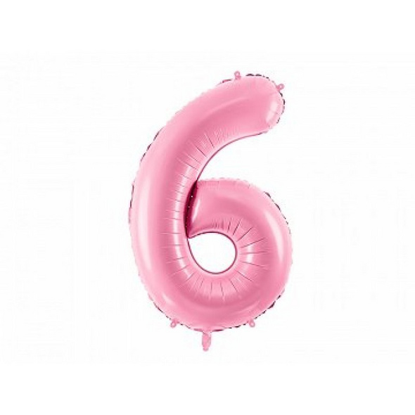 Foil Balloon Number 6in, 86cm, pink
