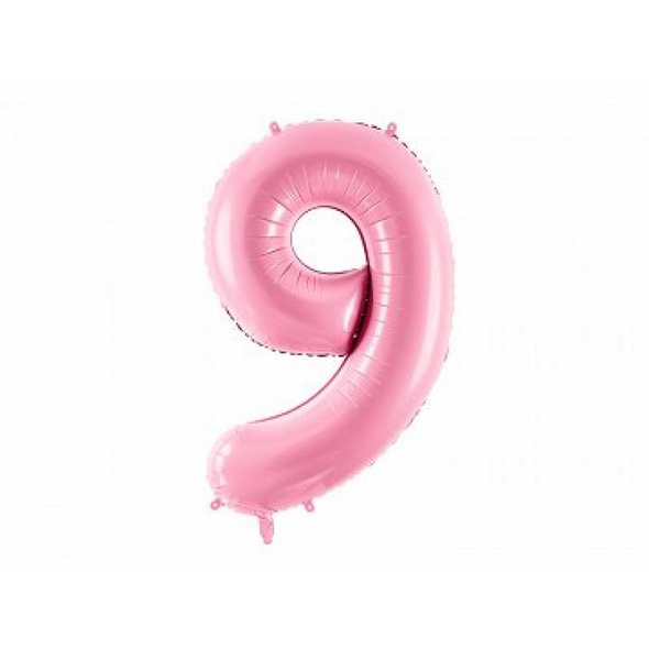 Foil Balloon Number 9in, 86cm, pink