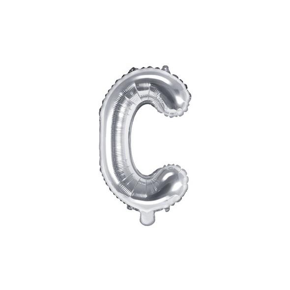 Folienballon Buchstabe C 35cm silber metallic