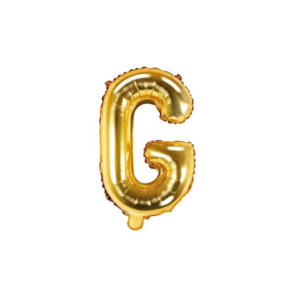 Folienballon Buchstabe G 35cm gold metallic