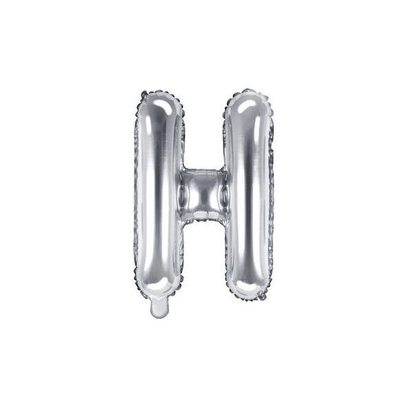 Folienballon Buchstabe H 35cm silber metallic