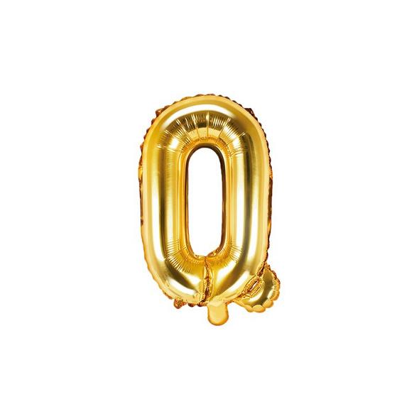 Folienballon Buchstabe Q 35cm gold metallic