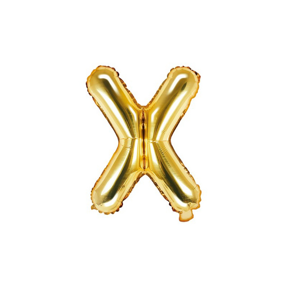 Folienballon Buchstabe X 35cm gold metallic