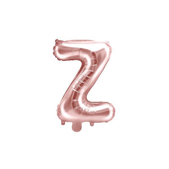 Folienballon Buchstabe Z 35cm rosé-gold metallic