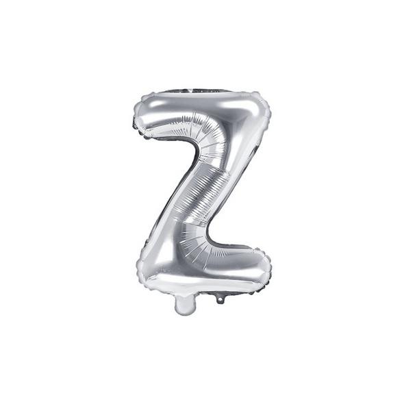 Folienballon Buchstabe Z 35cm silber metallic