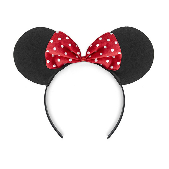Headband Mouse. black and red. 1piece