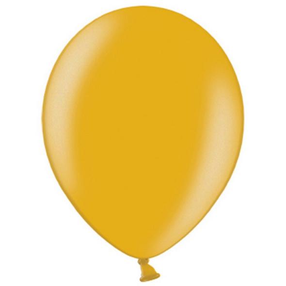 Latexballons 100er Pack gold-metallic 30cm