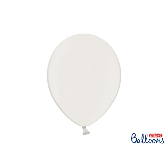 Latexballons 100er Pack metallic weiss 30cm