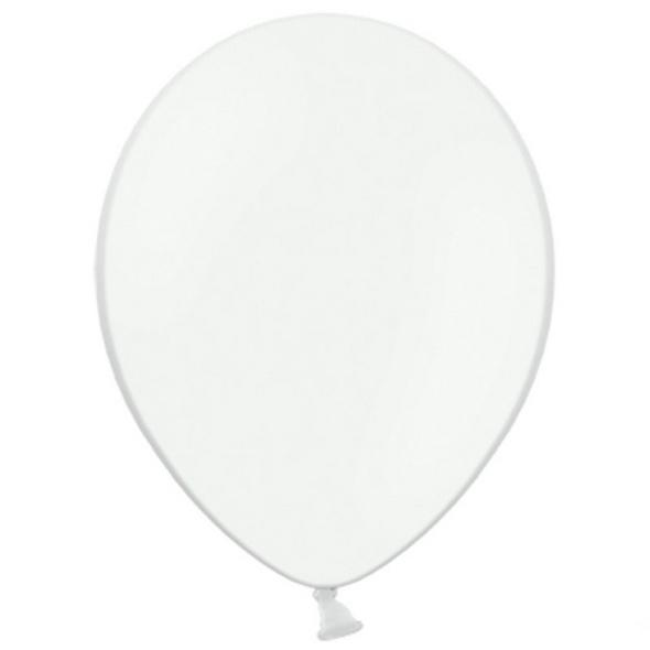 Latexballons 10er Pack pastell weiss 30cm