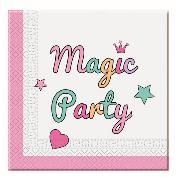 Magic Party 20 Two-Ply Paper Napkins 33x33cm