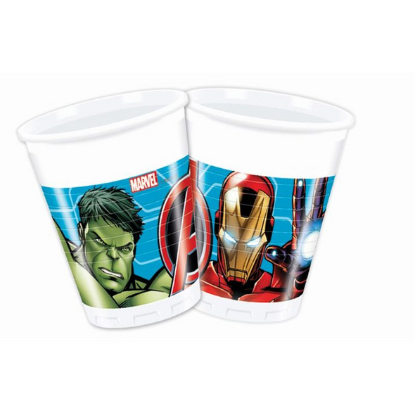 Mighty Avengers 8 Plastikbecher 200ml
