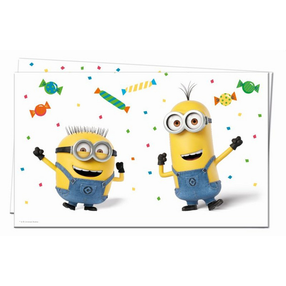 MINIONS BALLOONS PARTY 1 Plastic Tablecover 120x180cm