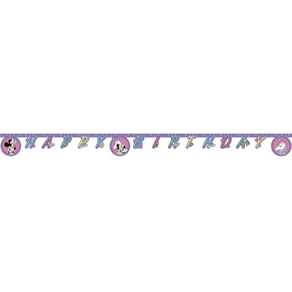 Minnie Einhorn 1 Happy Birthday Die-cut Banner