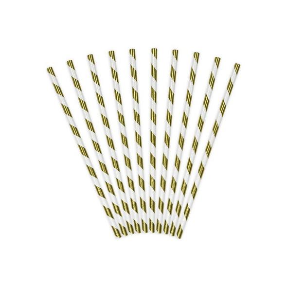 Papier Strohhalme Glamour gold 19,5cm