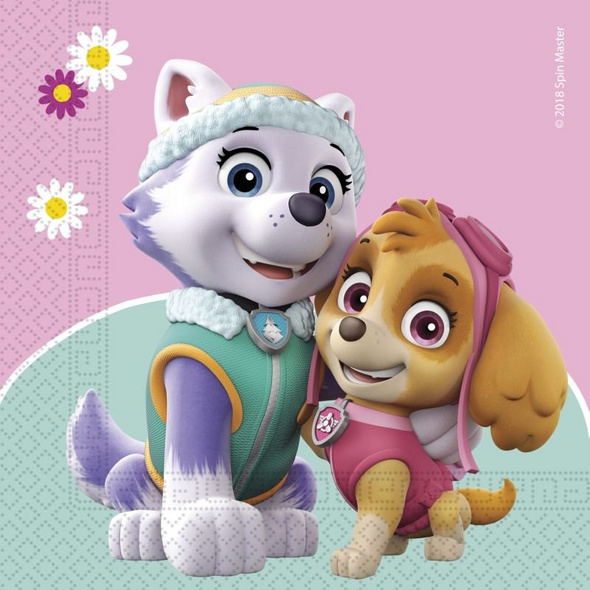 PAW PATROL SKYE & EVEREST 20 Two-ply paper napkins 33x33cm