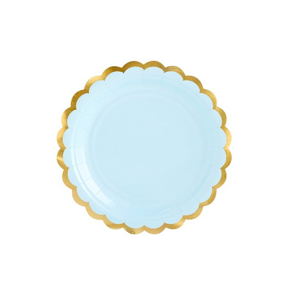 Plates, light blue, 18cm (1 pkt / 6 pc.)