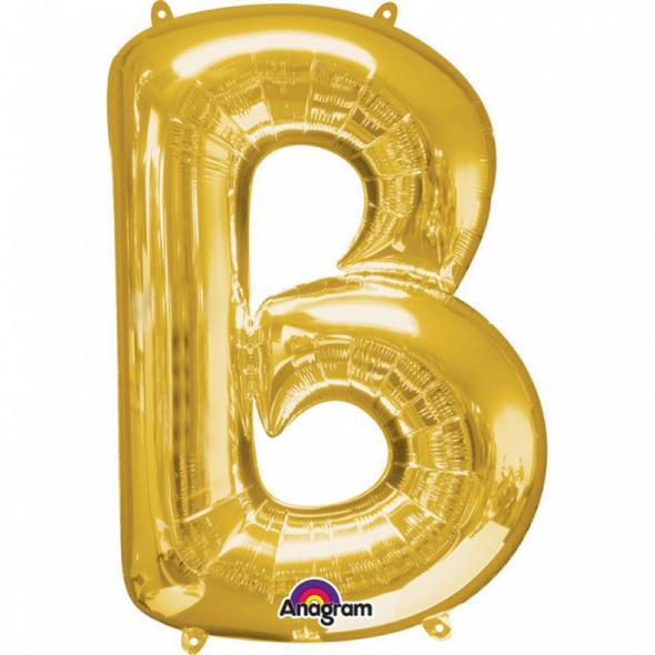 SuperShape Buchstabe B Gold Folienballon L34 verpackt 58cm x 86cm