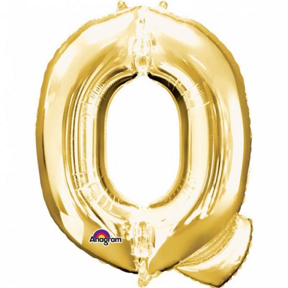 SuperShape Buchstabe Q Gold Folienballon L34 verpackt 60cm x 81cm