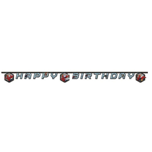 Ultimate Spiderman Web Warriors 1 Happy Birthday Die-cut Banner