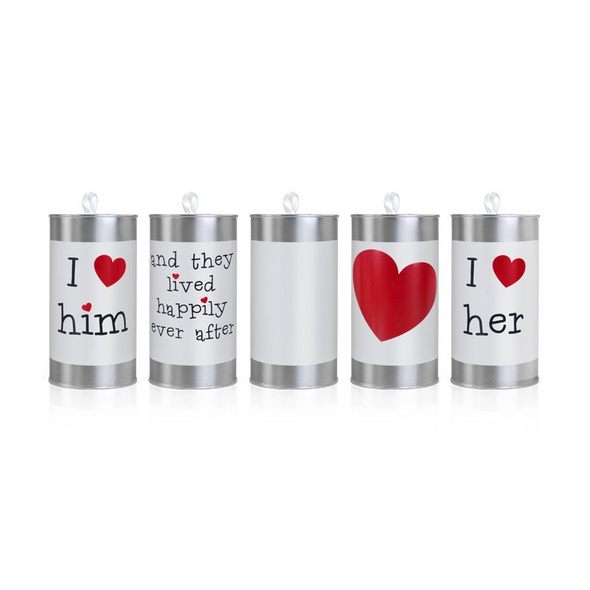 Wedding cans. 14 x 7cm. 1pack
