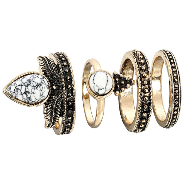 Ring-Set - Mixed Gold