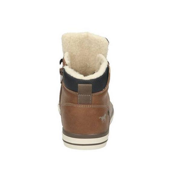 High Top Sneaker aus Glattlederimitat