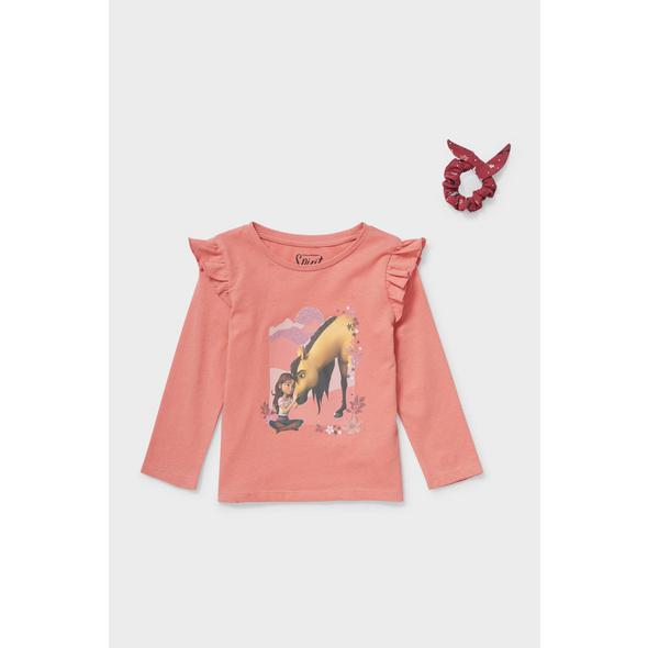 Set - Spirit - Langarmshirt und Haargummi - Bio-Baumwolle