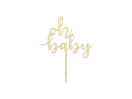 Cake Topper 'Oh Baby'
