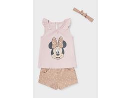 Minnie Maus - Baby-Outfit - Bio-Baumwolle - 3 teilig
