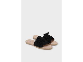 Sandalen mit Knotendetail - Velourslederimitat