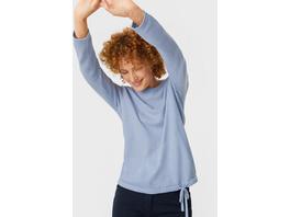Feinstrick-Pullover - recycelt - Glanz-Effekt